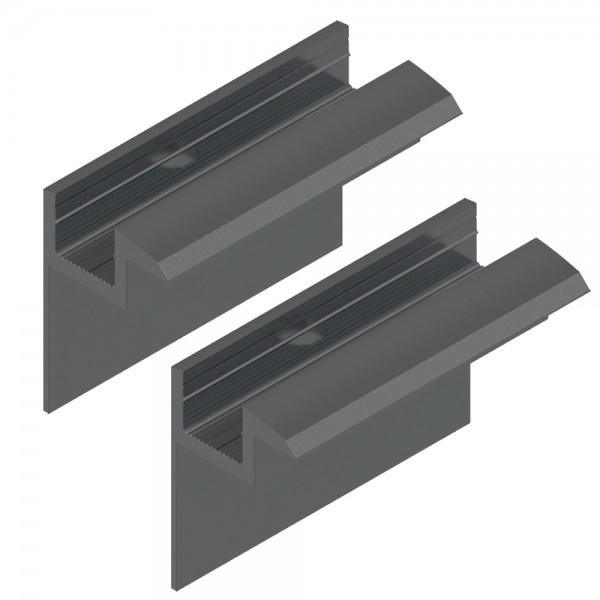 2er-Set Endklemme für 40 mm Module schwarz Solar Photovoltaik Aluminium