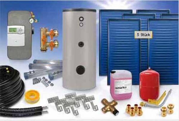 Flachkollektor - Brauchwasser & Heizung Paket 12,60m² - 800 Liter Speicher (BWH-13.825) - INDACH