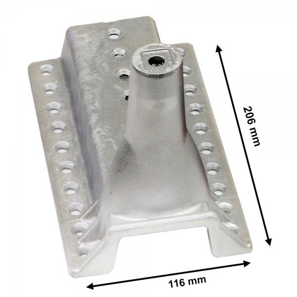 Universal Dach Gerätehalter Aufdachhalter Dachhalter Antennenhalter Aluminium