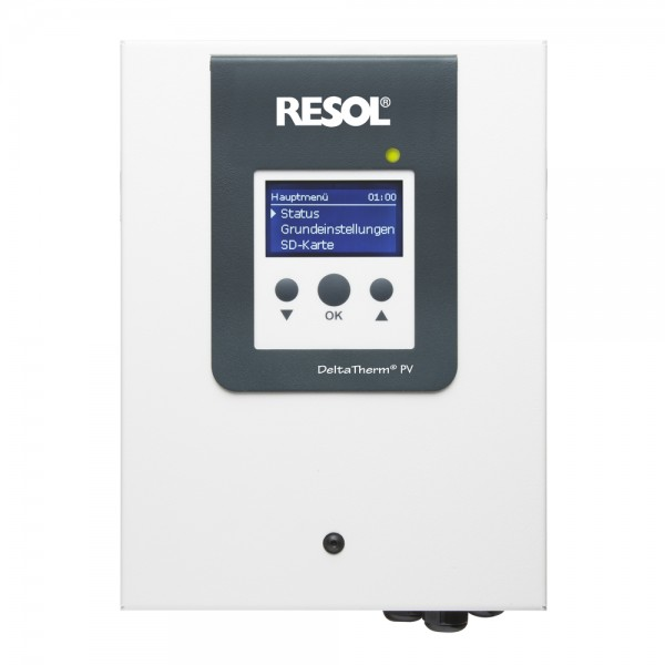 Resol DeltaTherm PV – Power-to-Heat-Regler (inkl. Sensormodul, 3 Stromsensoren und 1x FRP6)