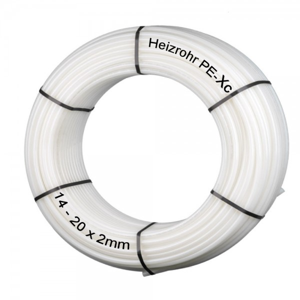 Heizrohr PE-Xc 14/16/17/20 x 2,0mm Fußbodenheizung Flächenheizung Heizungsrohr