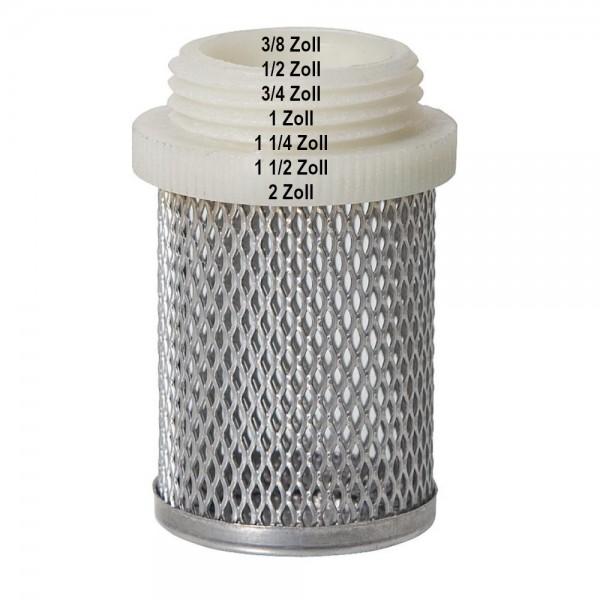 Saugkorb verschiedene Größen für Rückschlagventil Schwerkraftbremse Filterkorb Filter