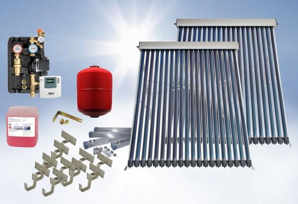 Solarthermie Basic Paket - Eurotherm-Solar Vakuumröhrenkollektor - 6,2m²