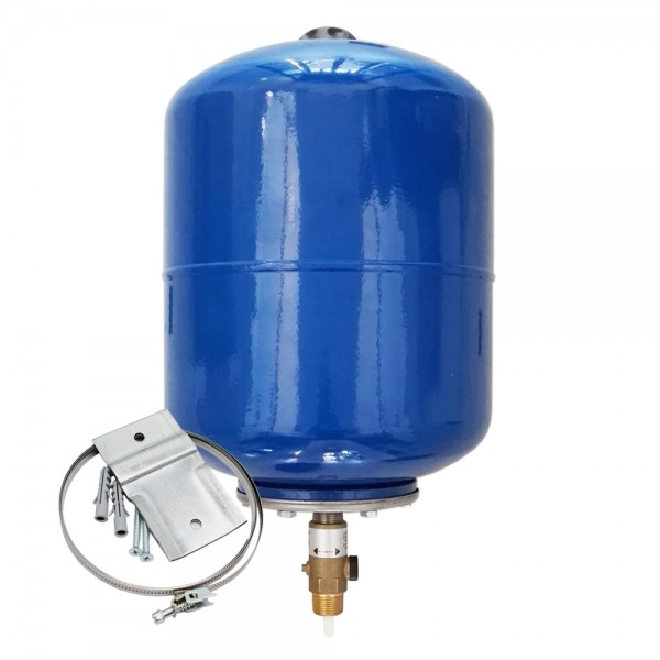 INTERVAREM LS 8L – 12L DVGW Ausdehnungsgefäß + Wandhalterung für Trink- und Brauchwasser