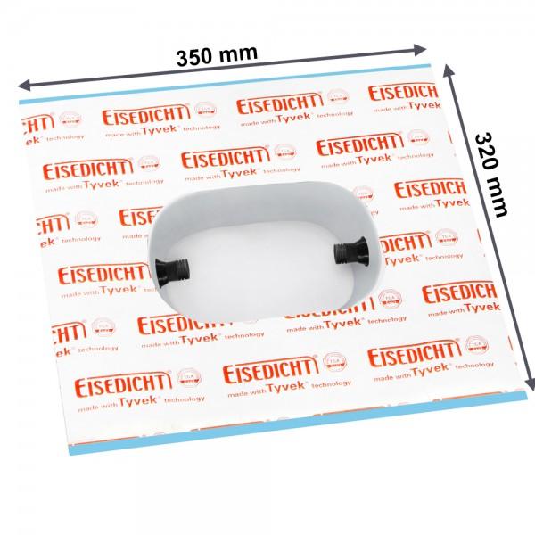 Luftdichtmanschette SteckdosenDicht für 2er Unterputz Elektro Dosen Elektroinstallation