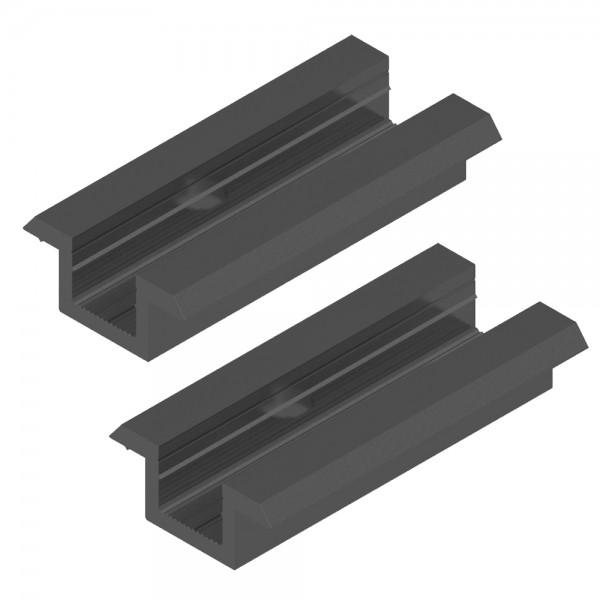 2er-Set Universal Mittelklemme für 30-50 mm Module schwarz Solar Photovoltaik