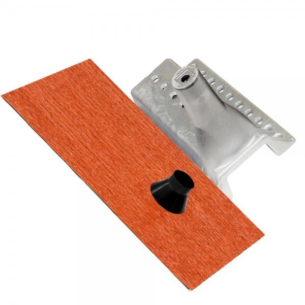 Universal Dach Gerätehalter + Manschette AufdachDicht Aufdachhalter Antennenhalter Aluminium