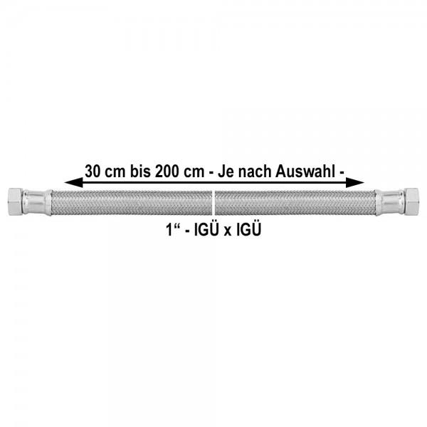 1 Zoll Panzerschlauch IGxIG Flexschlauch Druckschlauch 300 bis 2000mm