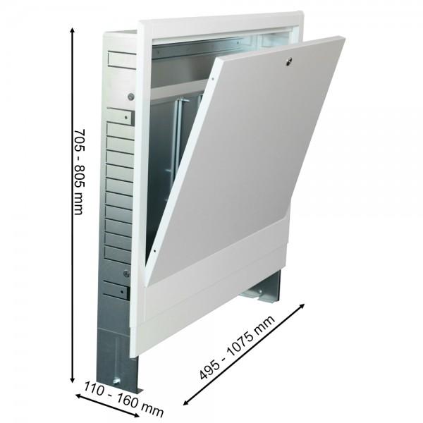 Verteilerschrank Unterputz 2-15 Heizkreise Fußbodenheizung Verteilerkasten