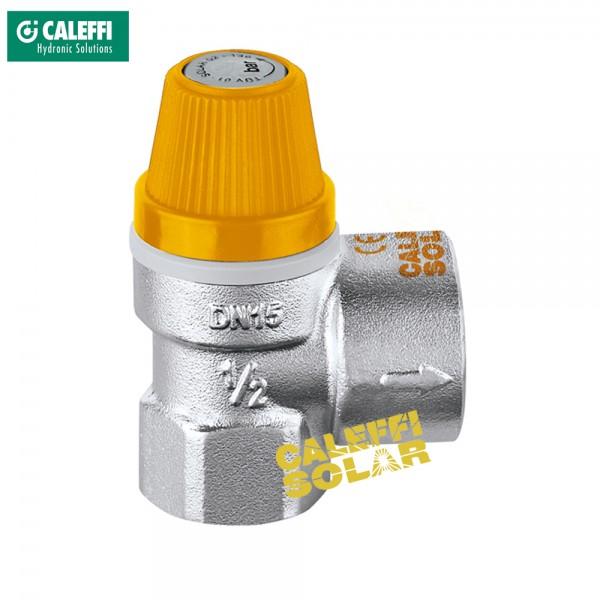 """Caleffi Solar Membran Sicherheitsventil 3 bar bis 10 bar 1/2"""" x 3/4"""" Überdruckventil"""