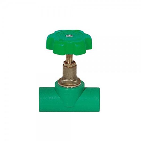 Aqua-Plus - PPR Rohr absperrbarer Hahn mit Verstellrad Schweißsysteme 20-25 mm