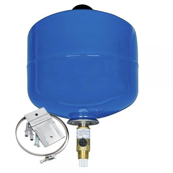 EXTRAVAREM LC 8L – 25L DVGW Ausdehnungsgefäß Trink- und Brauchwasser + Wandhalterung