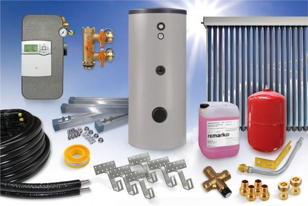 Vakuumröhrenkollektor CPC - Brauchwasser Paket 3,43m² – 300 Liter Speicher (BW-4.300)
