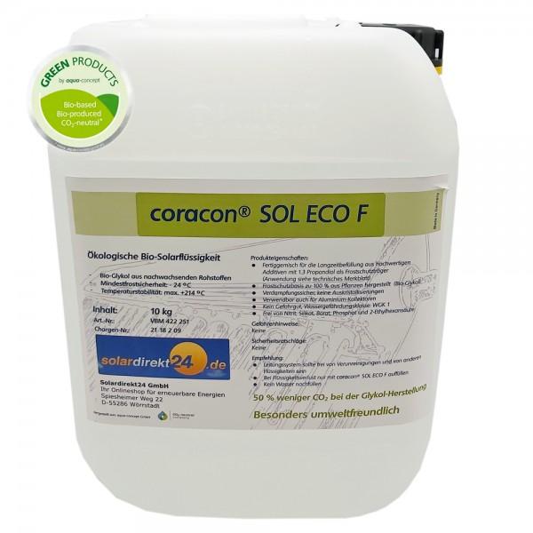 10-50 Liter Ökologische Solarflüssigkeit Coracon Sol ECO F - Temperaturstabil bis 214°C