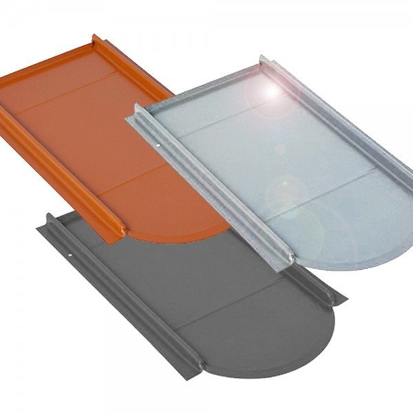 Unterlegplatte für Biberschwanz Ziegel Metalldachplatte verschiedene Farben
