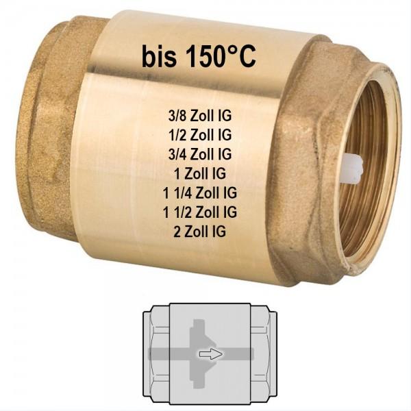 """Rückschlagventil bis 150°C Solar 3/8"""" bis 2"""" IG Schwerkraftbremse Rückschlagklappe"""