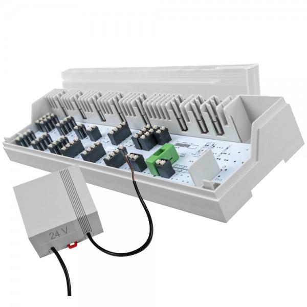 6 / 10 Zonen Anschlusseinheit Alpha direct Basis STANDARD 24V + 230V mit Trafo