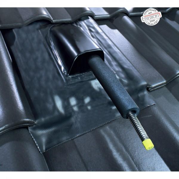 AufdachDICHT für Solar Rohr Leitung schwarz Abdichtung Dachdurchführung Eisedicht