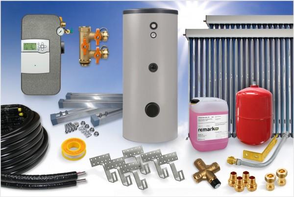 Vakuumröhrenkollektor - Brauchwasser Paket 7,68m² - 500 Liter Speicher (BW-8.500)