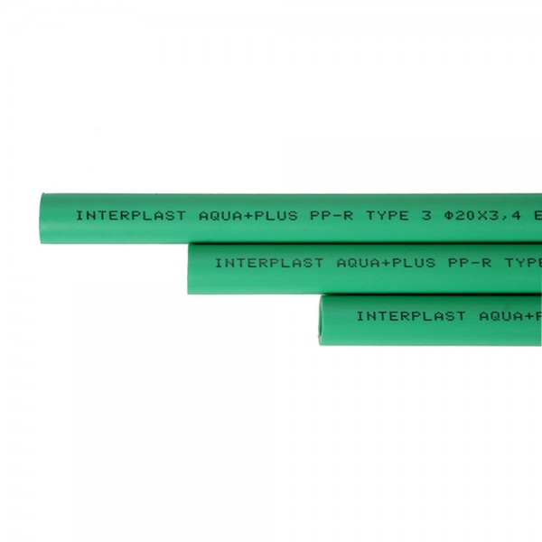 Aqua-Plus - PPR Rohr Stangen L = 4 m d = 40 x 6,7 mm, grün - 40 Meter