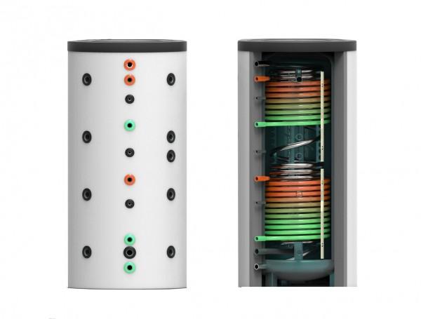 Hygiene-Kombi-Speicher mit zwei Wärmetauscher 1000 Liter Ø 79cm
