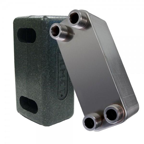 Zilmet ZB20 Plattenwärmetauscher inkl. Isolierung DN20 10 bis 40 Platten