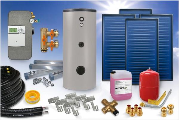 Flachkollektor - Brauchwasser & Heizung Paket 11,40m² - 800 Liter Speicher (BWH-12.825)